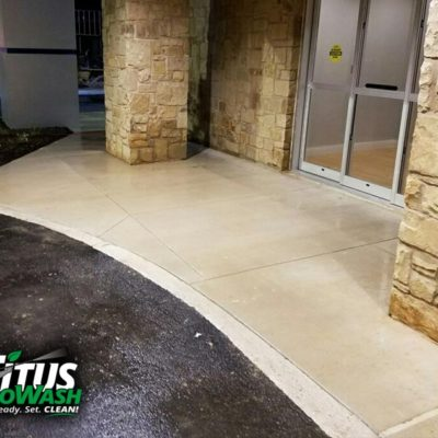Check out how fresh & clean we made this entrance area look!