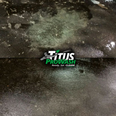 Efflorescence stain (calcium deposit) removal Before & After!